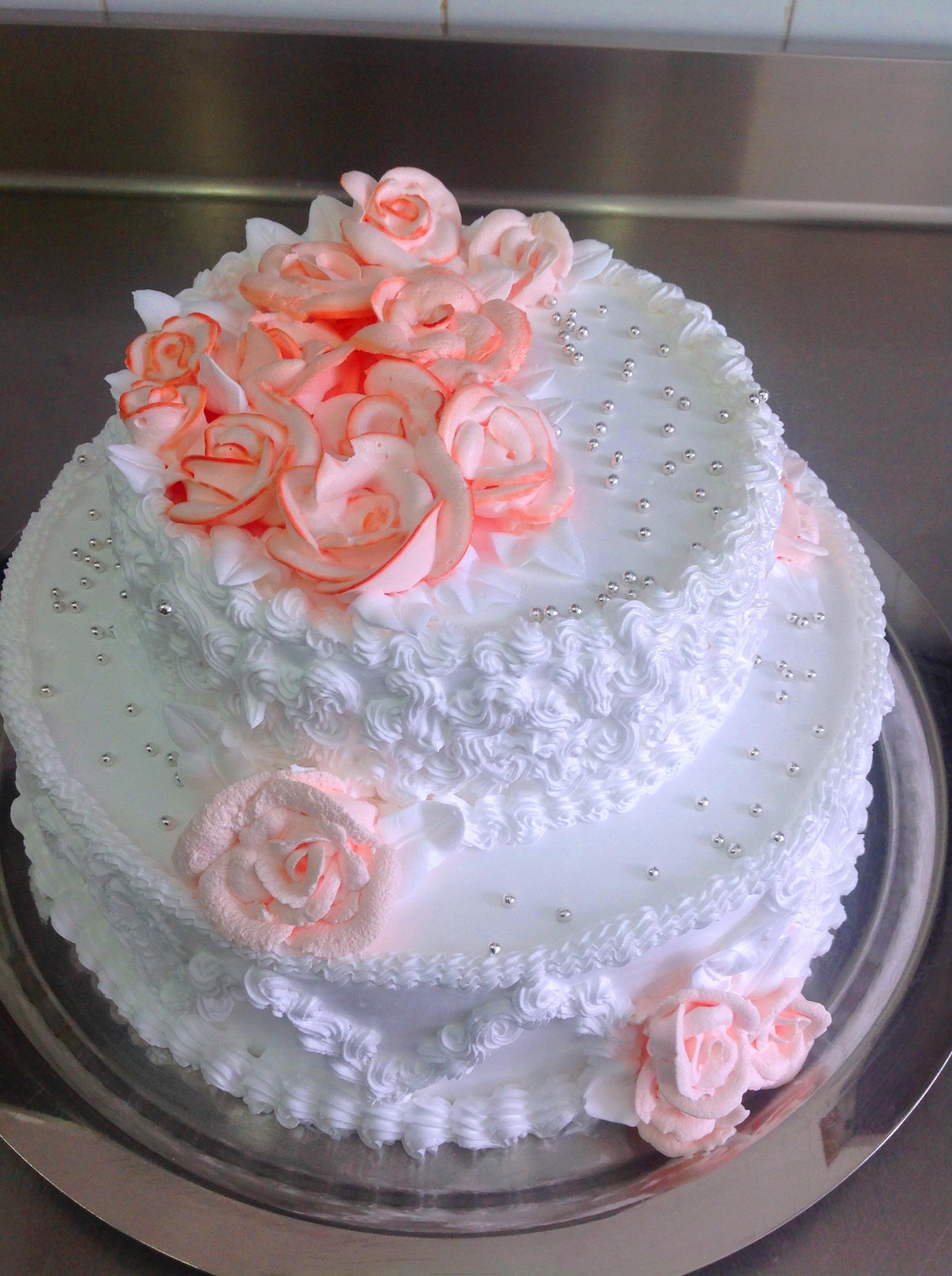 Свадебные кремовые торты фото